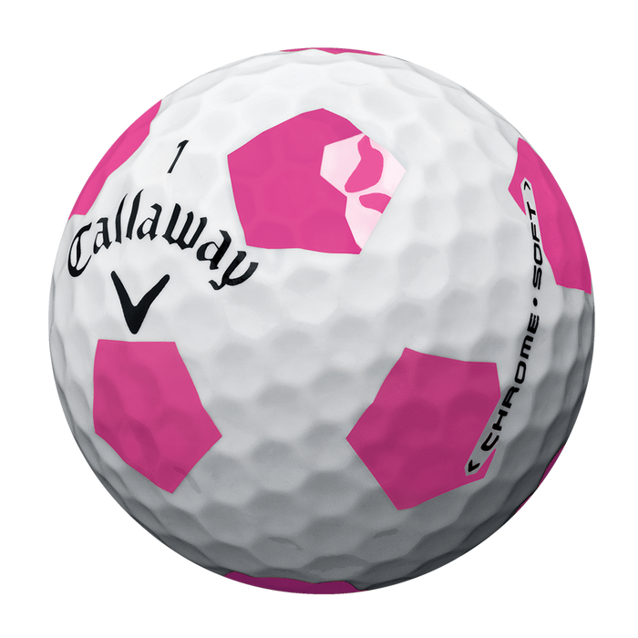 Limited Edition Chrome Soft Truvis White and Pink Golf Balls