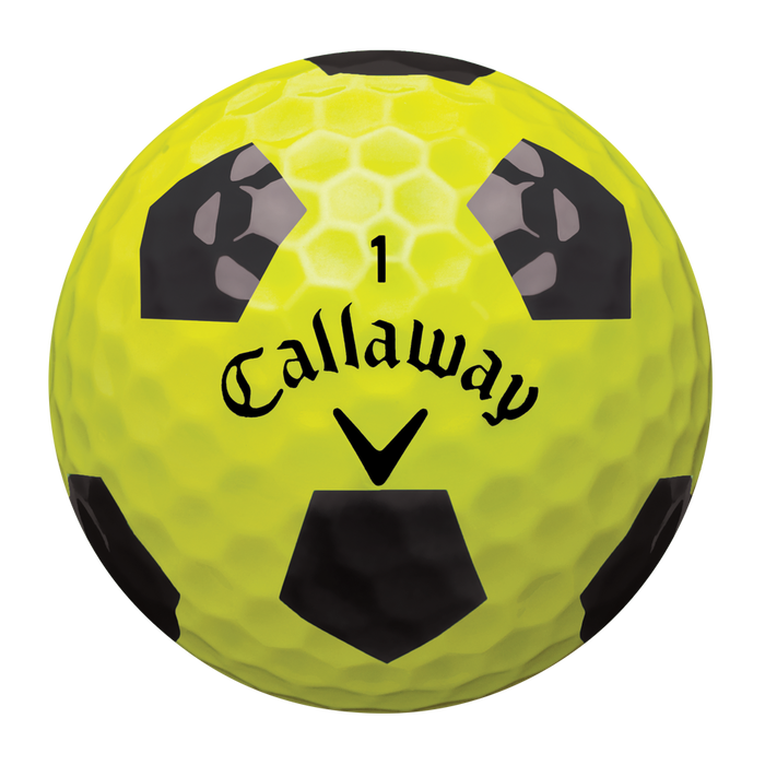 Chrome Soft X Truvis Yellow and Black Golf Balls