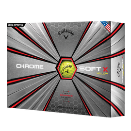 Chrome Soft X Yellow Logo Golf Balls