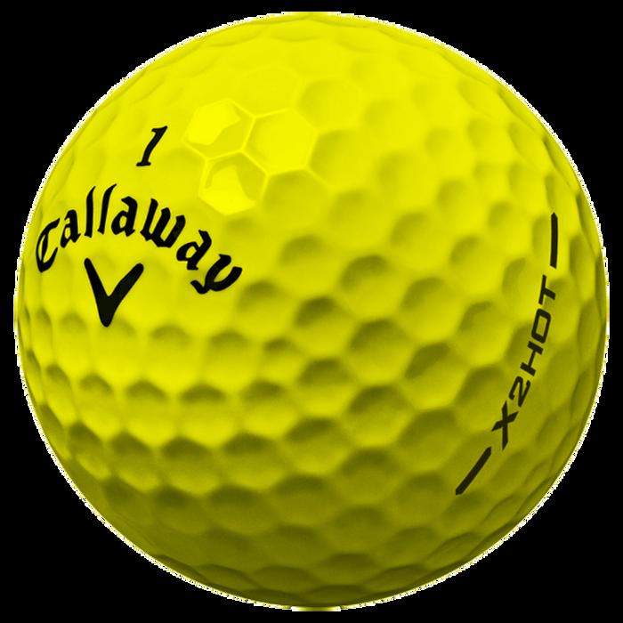 X2 Hot Yellow Golf Balls