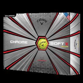 Chrome Soft X Yellow Logo Golf Balls