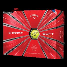 Chrome Soft Yellow Logo Golf Balls