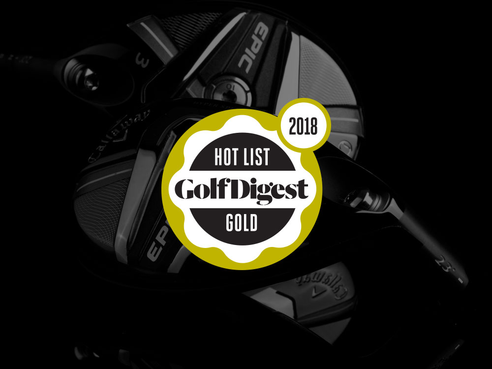 Callaway Epic Hybrids 2018 Golf Digest Hot List Badge