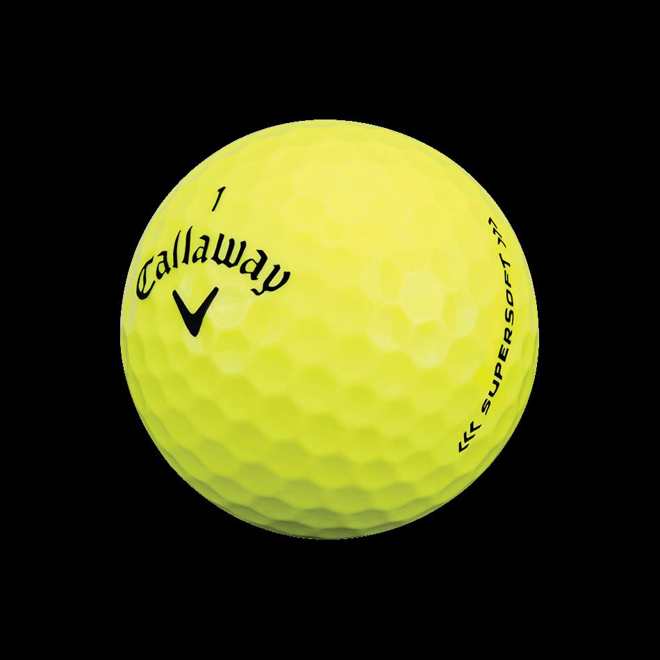 Supersoft Yellow Golf Balls Technology Item