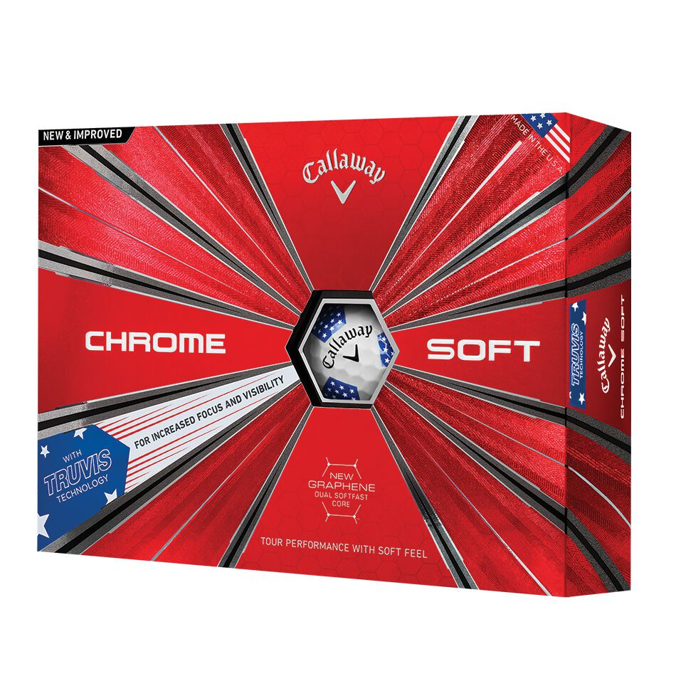 Image of Callaway Golf 2018 Chrome Soft Truvis Stars and Stripes Golf Balls