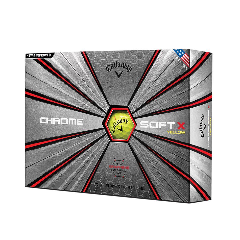 Image of Callaway Golf 2018 Chrome Soft X Yellow Golf Balls