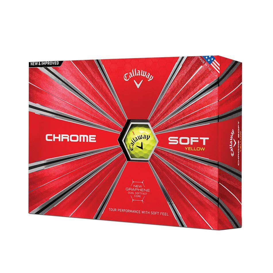 Image of Callaway Golf 2018 Chrome Soft Yellow Golf Balls