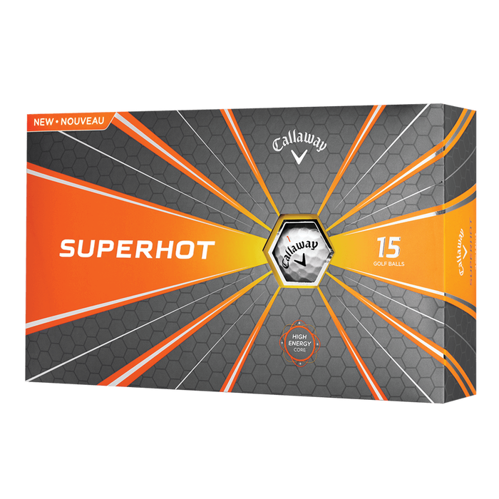 Superhot White 15-Pack Logo Golf Balls