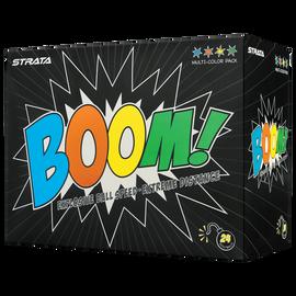 Strata Boom Multi-Color Golf Balls