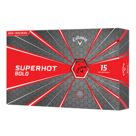 Superhot Bold 15-Pack Red Logo Golf Balls