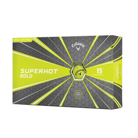 The Superhot Bold Matte Yellow 15-Pack Golf Balls