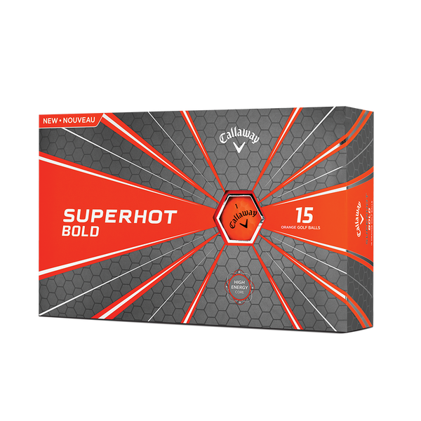 Superhot Bold Matte Orange 15-Pack Golf Balls Technology Item