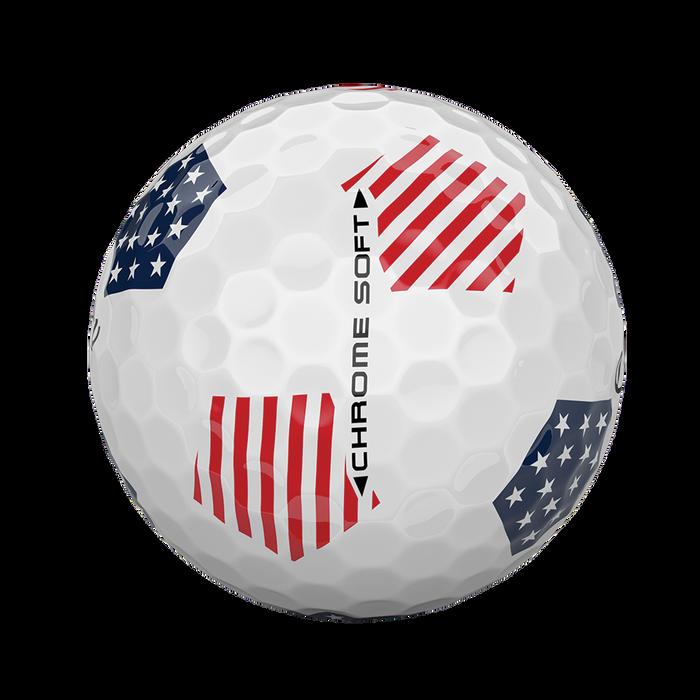 2018 Chrome Soft Truvis Stars and Stripes Golf Balls