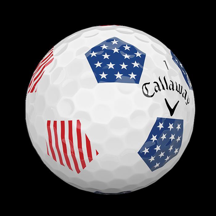 2018 Chrome Soft X Truvis Stars and Stripes Golf Balls