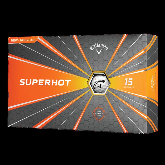 Superhot White 15-Pack Logo Golf Balls