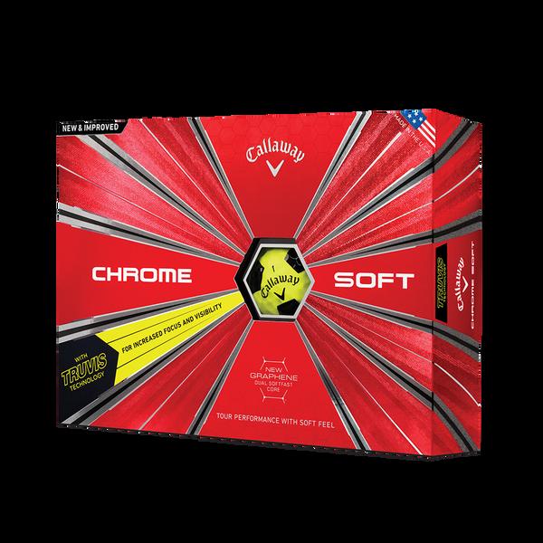 2018 Chrome Soft Truvis Yellow Golf Balls Technology Item