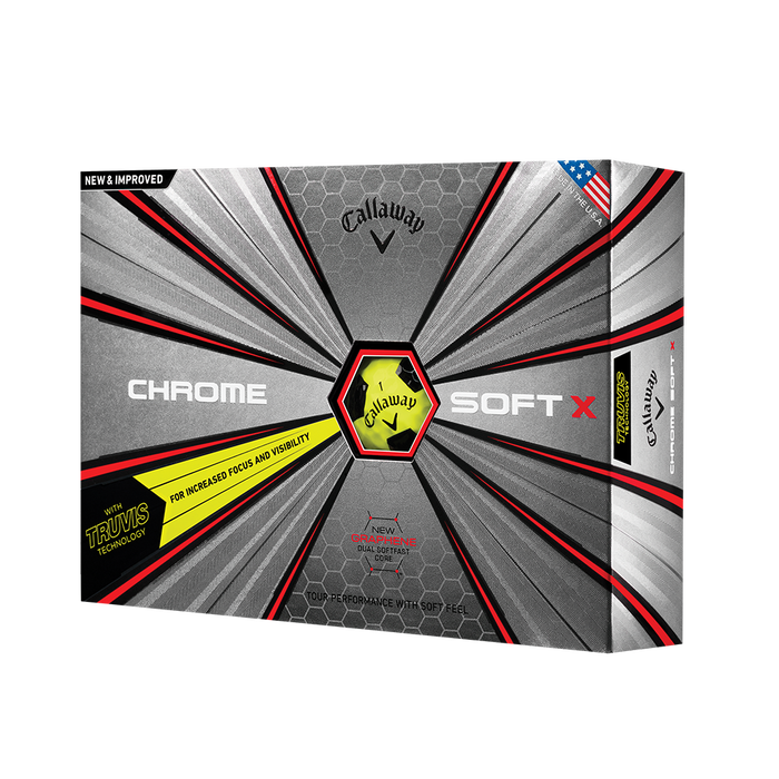 2018 Chrome Soft X Truvis Yellow Golf Balls