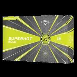 Superhot Bold 15-Pack Yellow Logo Golf Balls