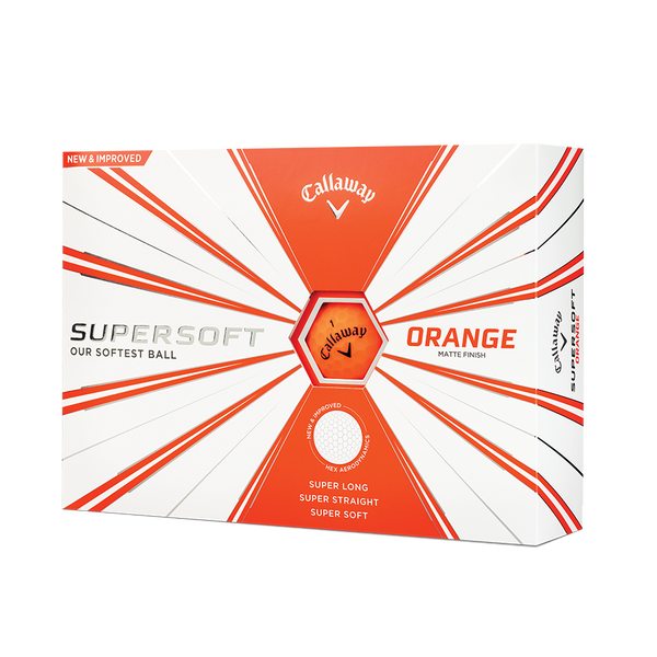 Supersoft Matte Orange Golf Balls Technology Item