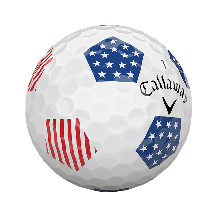 2018 Chrome Soft X Truvis Stars and Stripes Golf Balls