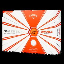 Supersoft Matte Orange Logo Golf Balls