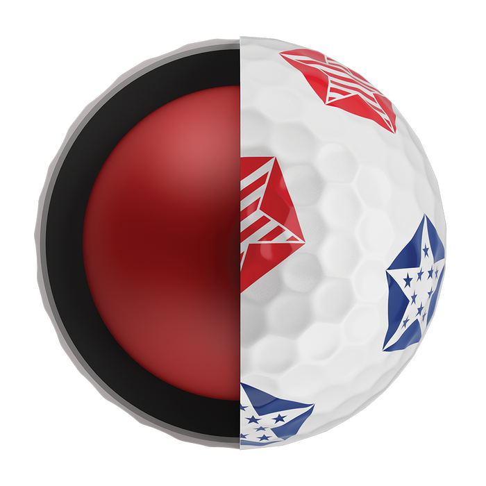 Chrome Soft Truvis Stars and Stripes Golf Balls