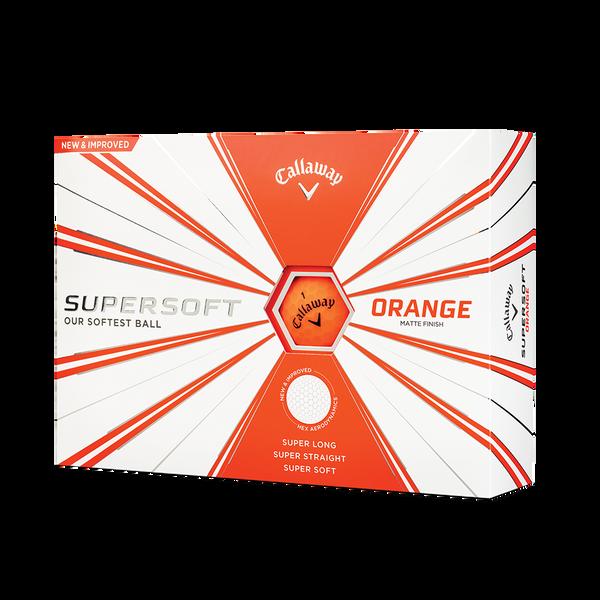 Callaway Supersoft Matte Orange Golf Balls Technology Item