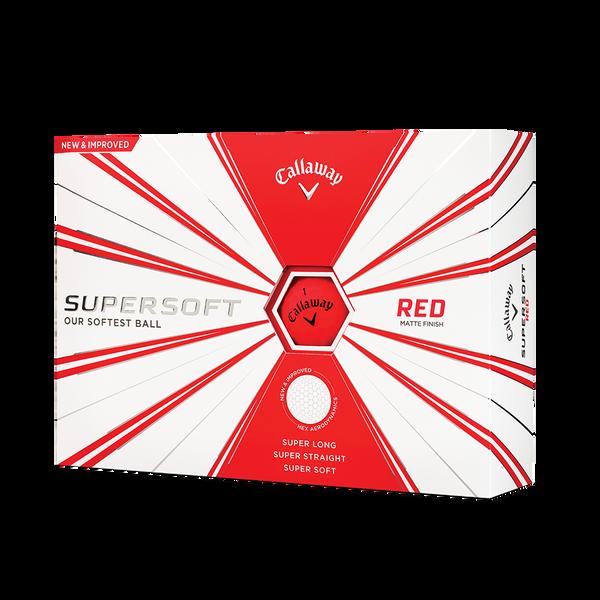 Callaway Supersoft Matte Red Golf Balls Technology Item