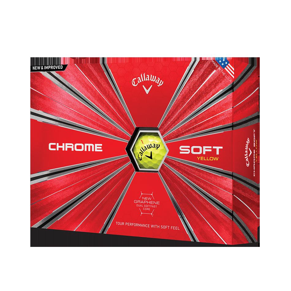 Chrome Soft Yellow Golf Balls - View 1