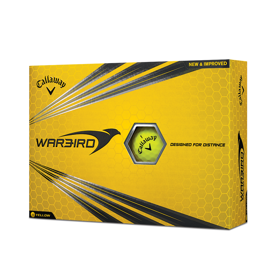 Warbird Yellow Golf Balls - View 1