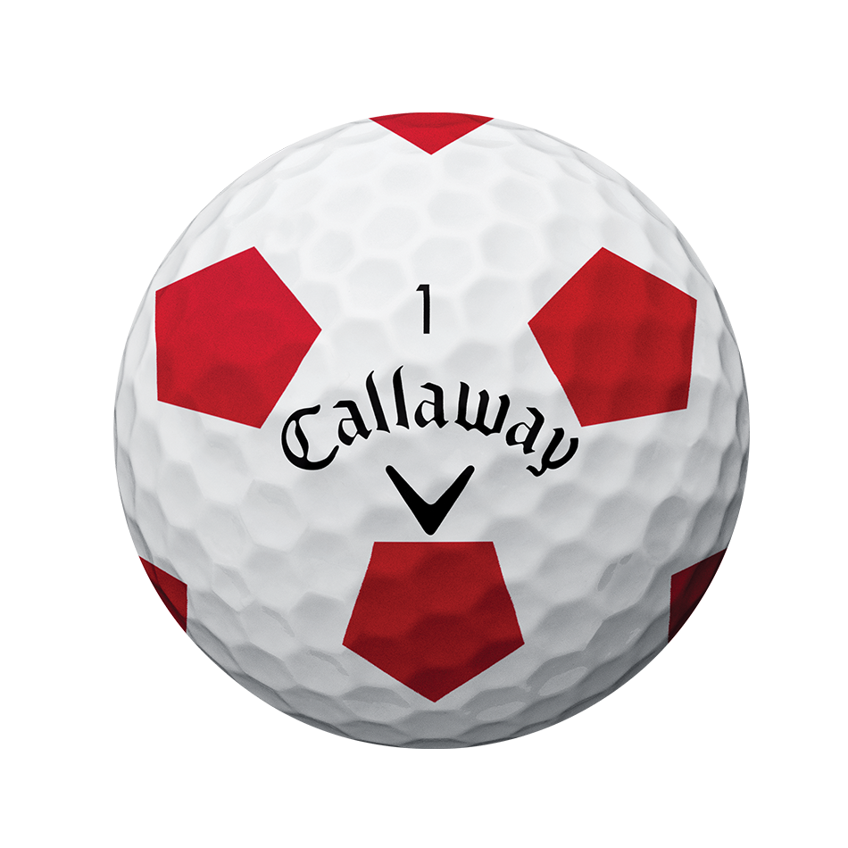 Chrome Soft Truvis Red Golf Balls - View 2