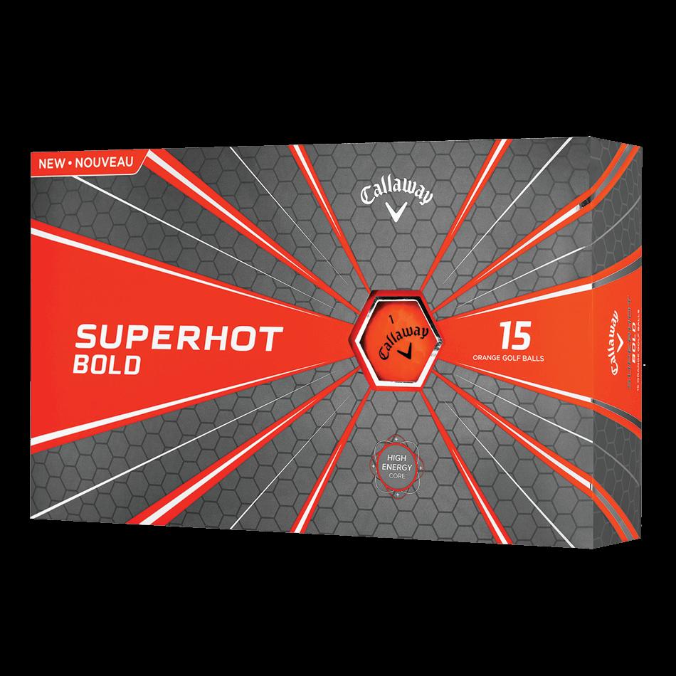 Superhot Bold 15-Pack Orange Logo Golf Balls - View 1