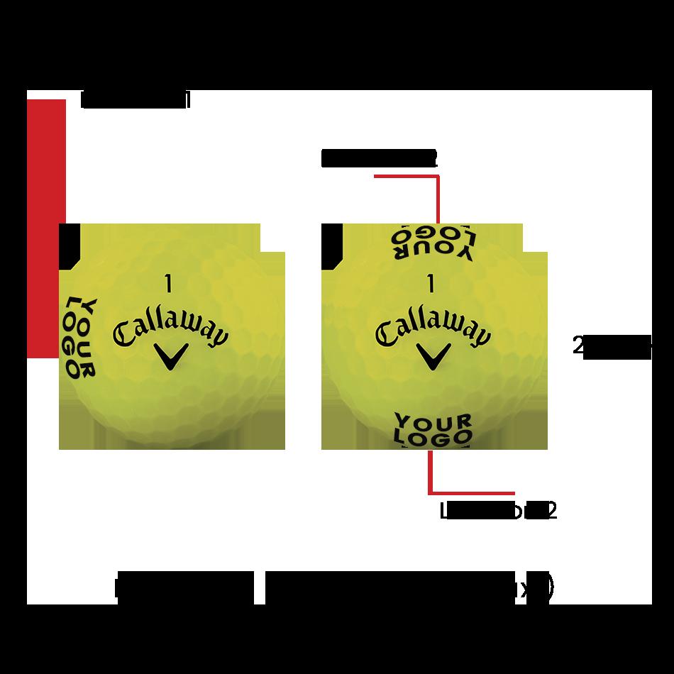 Superhot Bold 15-Pack Yellow Logo Golf Balls - View 3