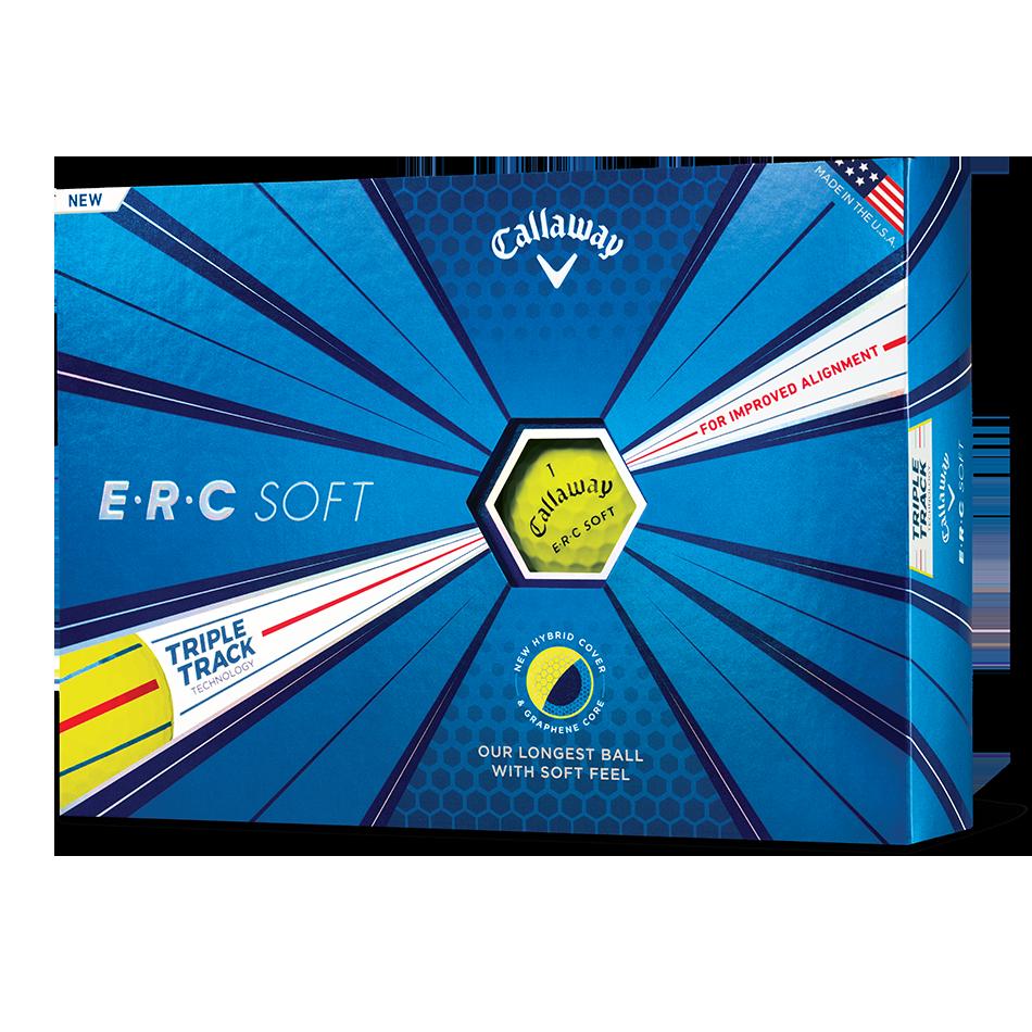 ERC Soft Yellow Logo Golf Balls - View 1