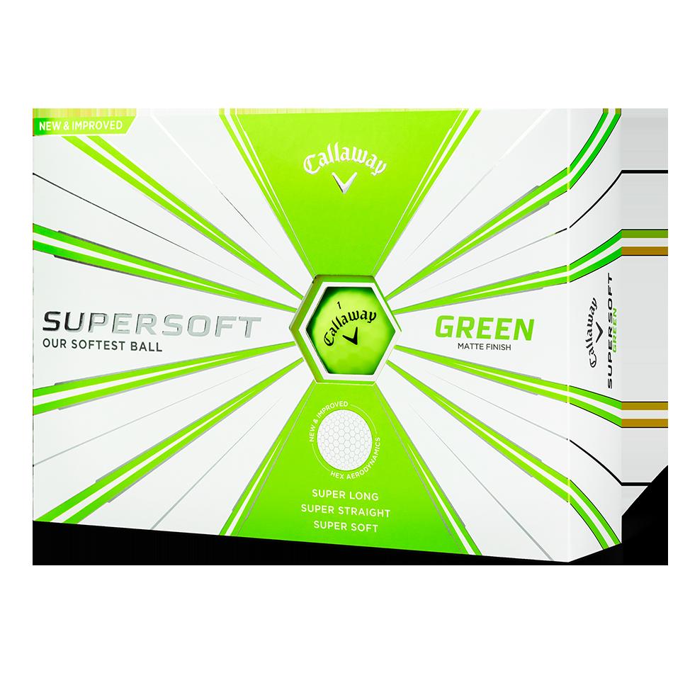 Supersoft Matte Green Logo Golf Balls - View 1