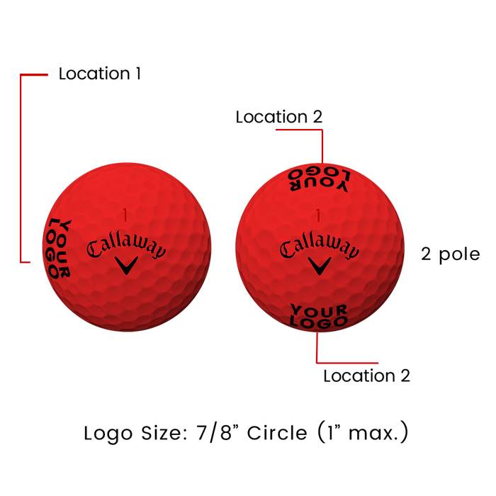 Supersoft Matte Red Logo Golf Balls - View 3