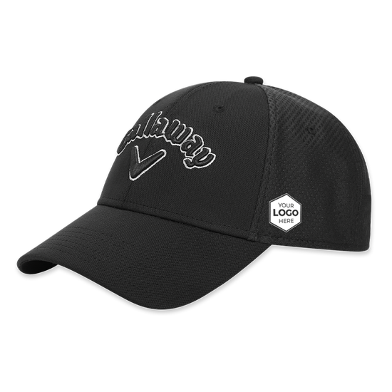 Mesh Fitted Logo Cap