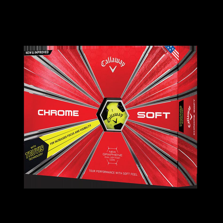Chrome Soft Truvis Yellow Golf Balls - View 1