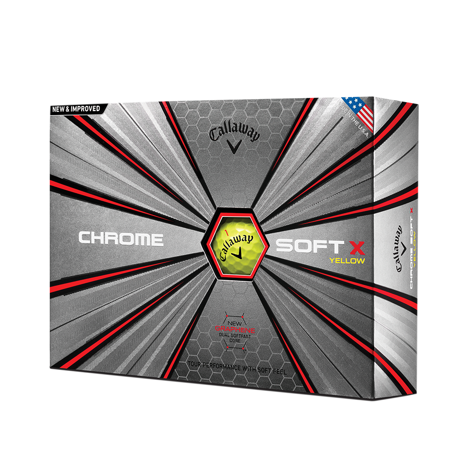 Chrome Soft X Yellow Golf Balls - View 1