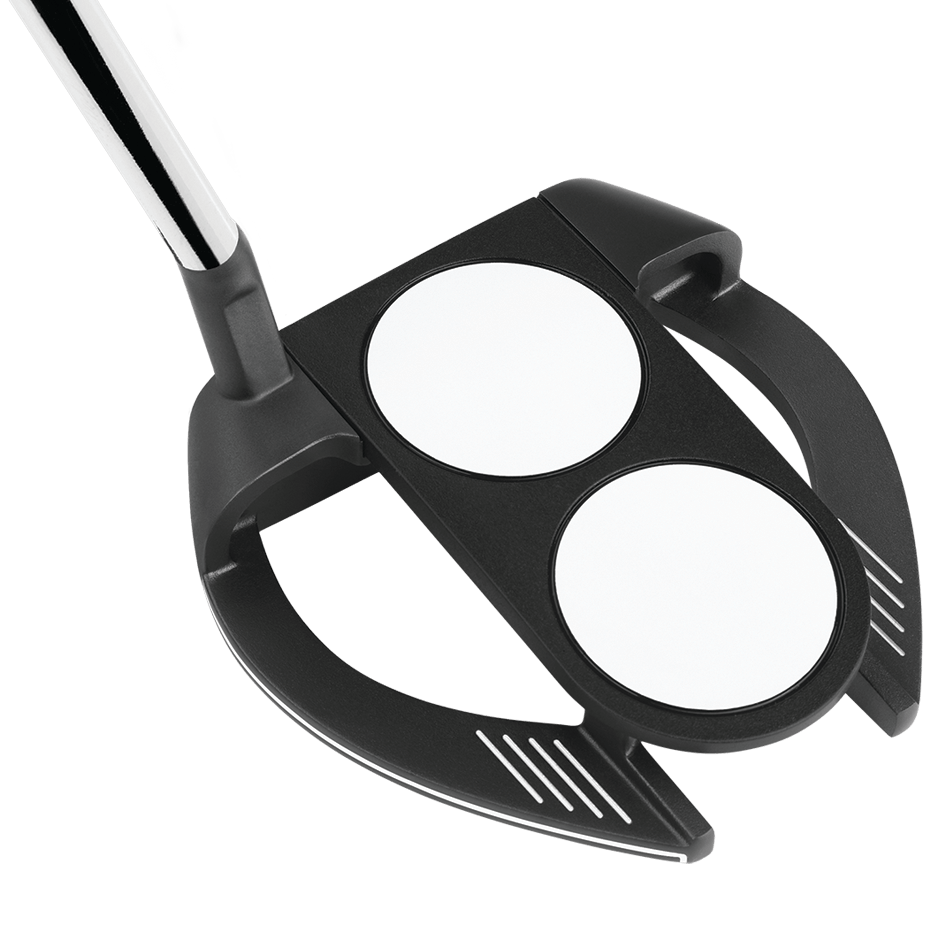 Odyssey O-Works Black 2-Ball Fang S Putter - View 3