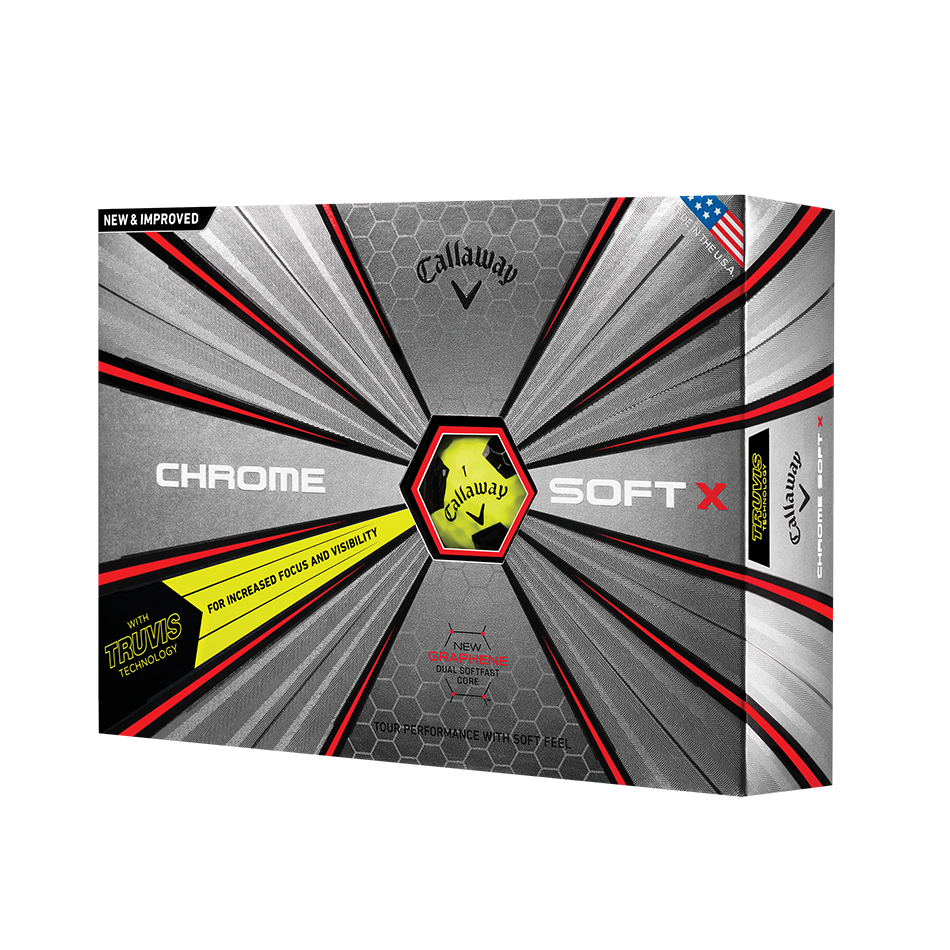 Chrome Soft X Truvis Yellow Golf Balls - View 1