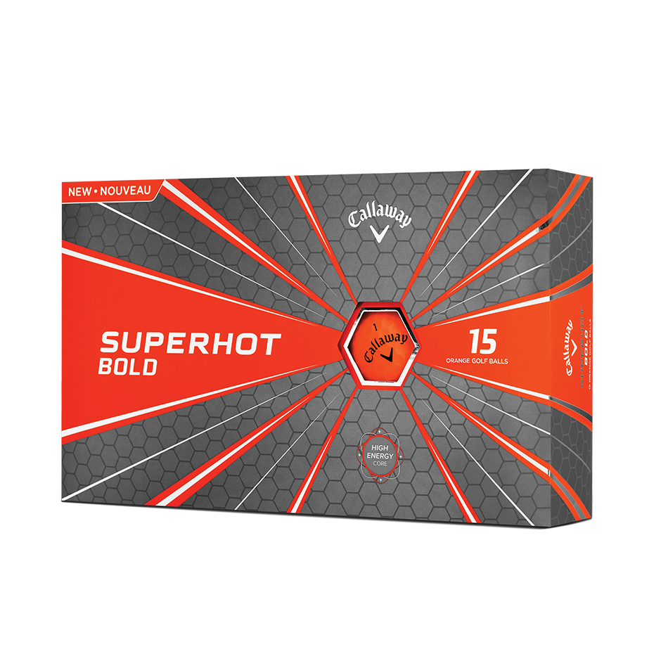 Superhot Bold Matte Orange 15-Pack Golf Balls - View 1