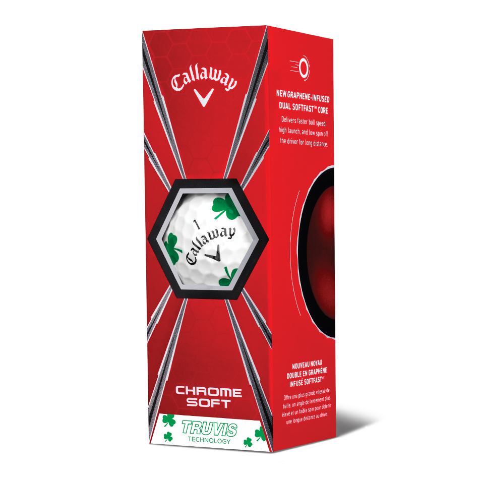 Chrome Soft Shamrock Truvis Golf Balls - View 2