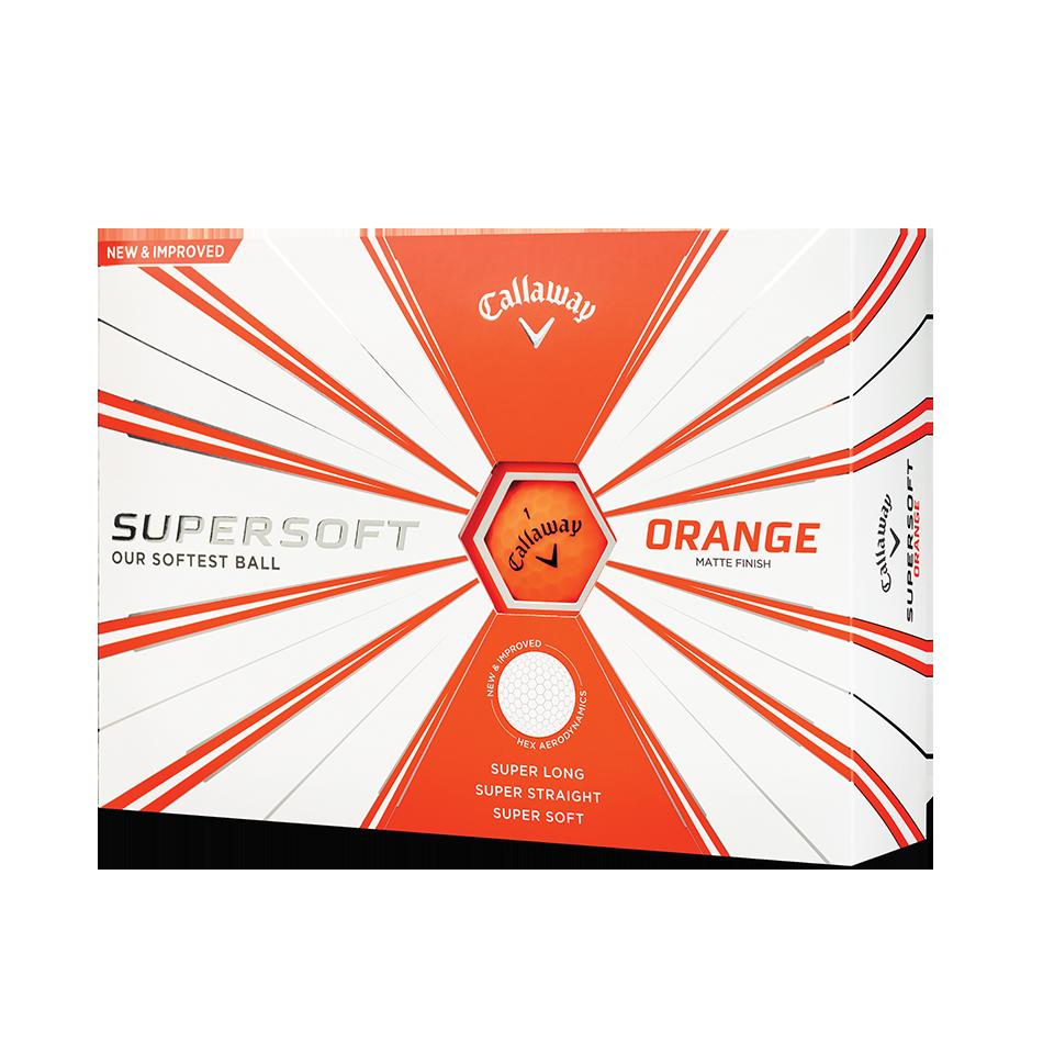 Callaway Supersoft Matte Orange Golf Balls - View 1