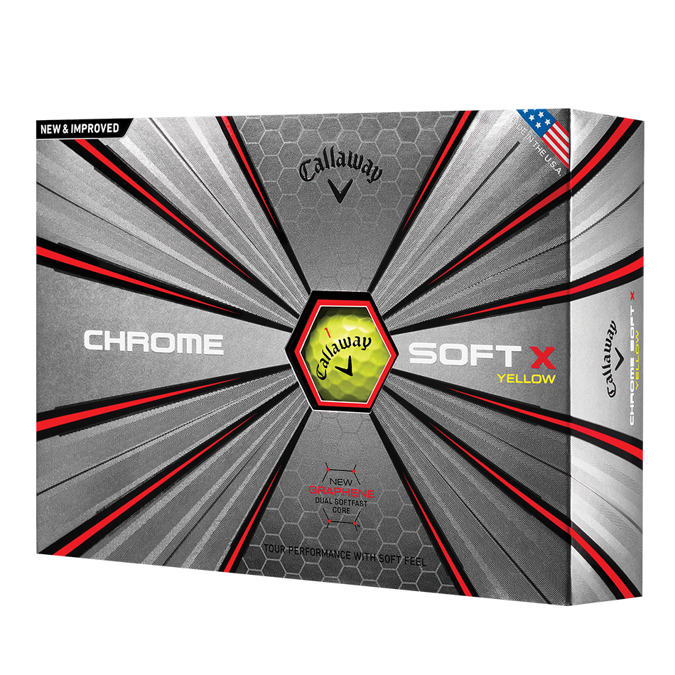 Chrome Soft X Yellow Logo Golf Balls - View 1