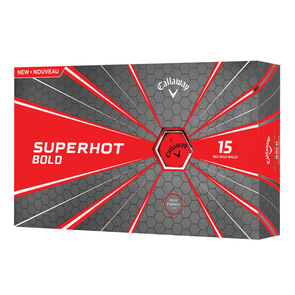 Superhot Bold 15-Pack Red Logo Golf Balls - View 1