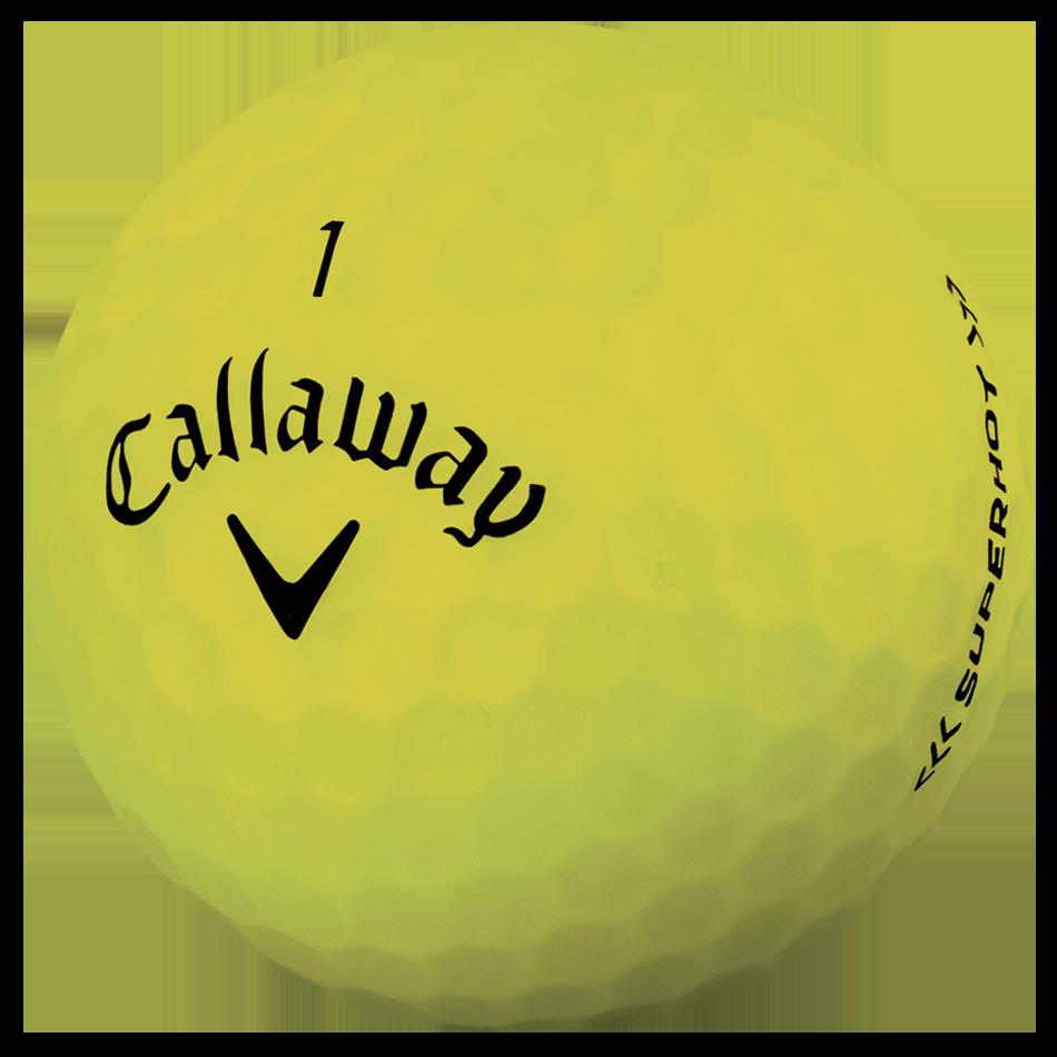Superhot Bold 15-Pack Yellow Logo Golf Balls - View 4