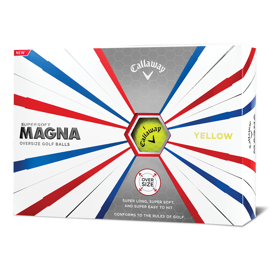 Supersoft Magna Yellow Logo Golf Balls - View 1