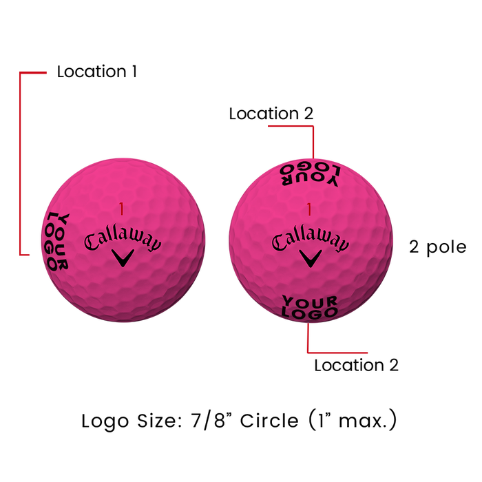 Supersoft Matte Pink Logo Golf Balls - View 3