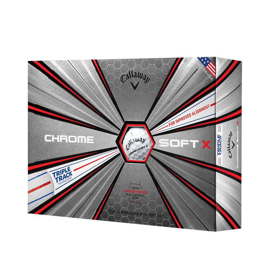 Chrome Soft X Triple Track Golf Balls - View 1